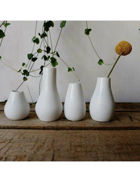 Mini vases en porcelaine blancbe