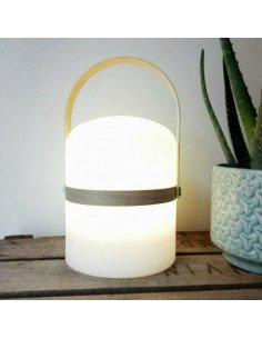 Lampe baladeuse led rechargeable jardin poignée bois