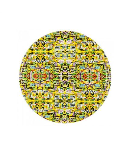 Plateau rond Jungle Fever jaune GM mariska meijers amsterdam design scandinave