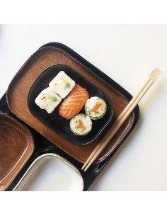 Assiette rectangulaire grès ocre brun serax merci concept store