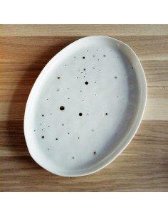 Plateau à pois dorés rader porcelaine blanche