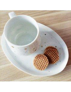 Tasse à pois dorés rader porcelaine blanche decoration