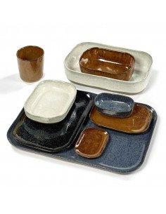 Assiette rectangulaire grès ardoise serax merci concept store