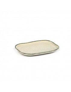 Petite Assiette rectangulaire grès blanc cassé serax merci concept store