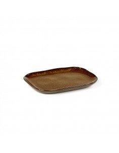 Petite Assiette rectangulaire grès ocre brun serax merci concept store