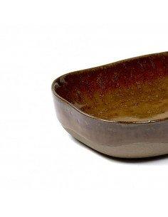 Assiette profonde grès ocre brun serax merci concept store