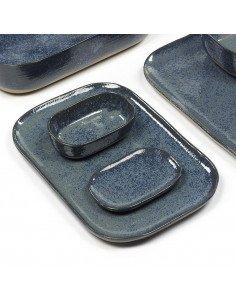 Assiette rectangulaire grès bleu gris serax merci concept store
