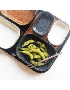 Petite Assiette rectangulaire grès bleu gris serax concept store