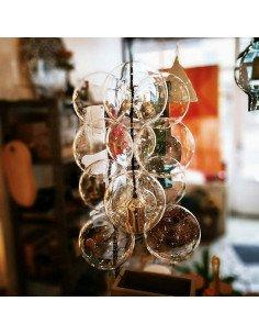 house doctor suspension diy Luminaire bulles verre soufflé vintage industriel boheme
