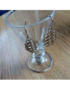 Pascale Lion bijoux de createur boucles d'oreilles Louison rondes dorées