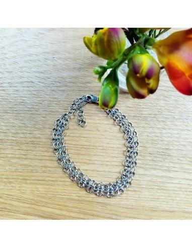 Pascale Lion bijoux Bracelet cotte de maille bijoux de créateur Louison argent