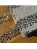 Pascale Lion bijoux contemporain de createur sautoir Collier cotte de maille XL couleur argent