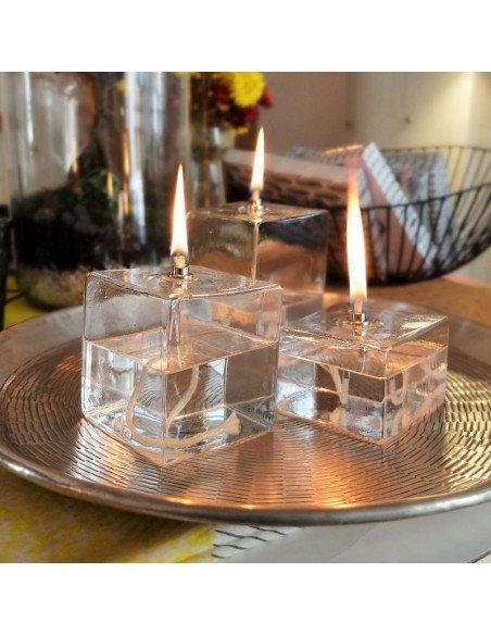 BAZARDELUXE Set de lampes à huile cube