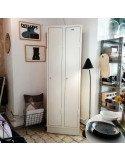 Vestiaire métallique 2 portes blancs brocante vintage