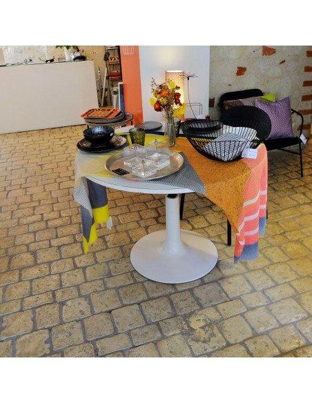 Table modulable pied tulipe blanche - VENDUE !