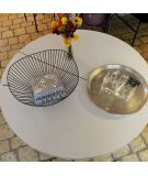 Table modulable pied tulipe blanche saarinen brocante vintage