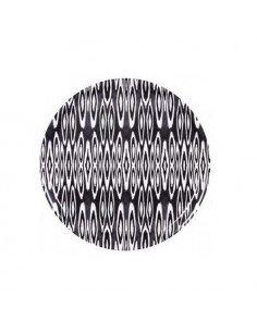 MARISKA MEIJERS Plateau Coco Ikat Long Black 45 cm