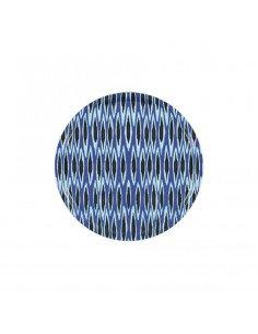 MARISKA MEIJERS Plateau Ikat Long bleu 38 cm