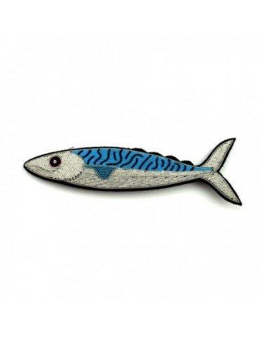 Macon et lesquoy broche brodee poisson maquereau