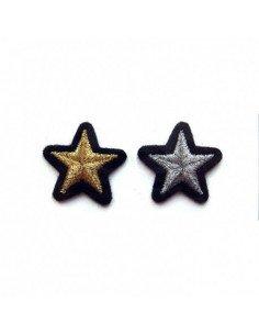 MACON ET LESQUOY Mini écussons Étoiles doré + argenté