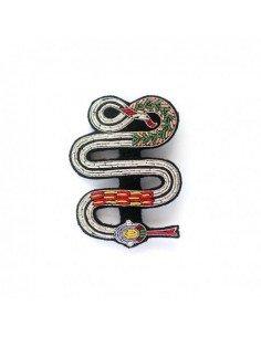 MACON ET LESQUOY Broche Brodée Serpent