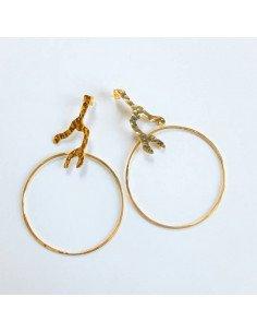 ELOÏSE FIORENTINO B.O anneaux Racines or PM