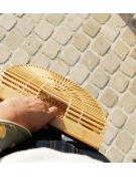 Sac a main femme Thais en bambou naurel demi lune