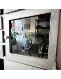 Brocante vintage Meuble de dentiste metal restauré deco indus loft meuble de métier