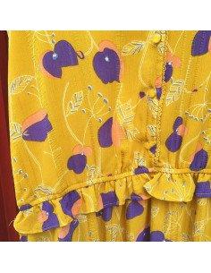 Robe imprimée jaune Delphine