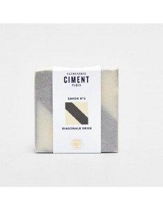 CIMENT PARIS Savon Diagonale grise senteur Citron
