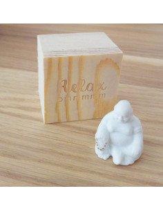 RÄDER DESIGN Mini Boudha porcelaine blanche