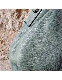 Sac a main femme Cécile en cuir de vachette vert d'eau