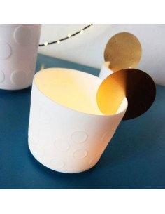 RADER DESIGN Veilleuse porcelaine et cuivre M