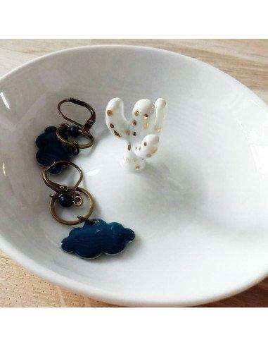 RÄDER DESIGN stories Vide-poche cactus porcelaine blanche