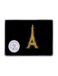 MACON ET LESQUOY Broche Brodée Tour Eiffel