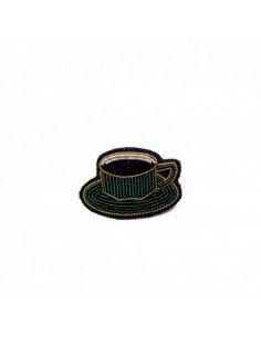 MACON ET LESQUOY Broche Brodée Tasse de Café