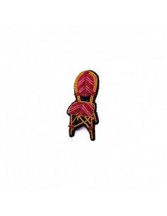 MACON ET LESQUOY Broche Brodée Chaise bistrot
