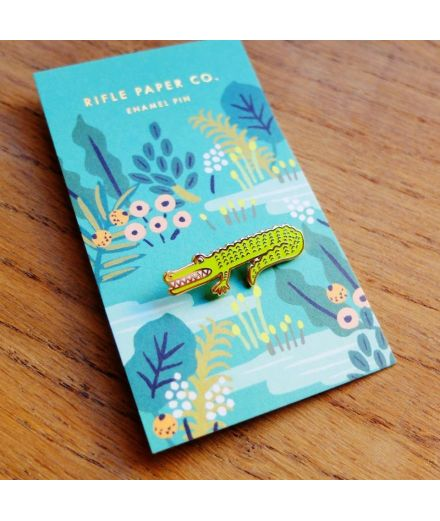 RIFLE PAPER CO Pin's Crocodile