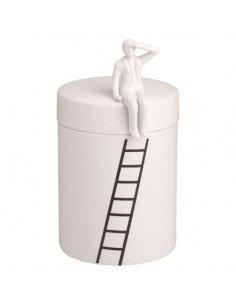 RÄDER DESIGN STORIES Boite porcelaine blanche personnage assis
