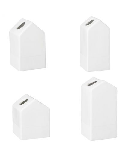RÄDER DESIGN decoration Set mini vases porcelaine blanche Maison