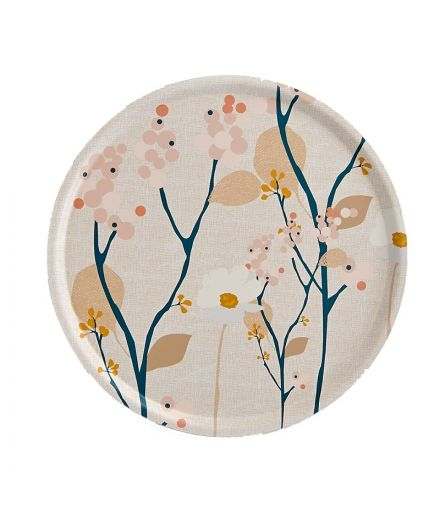 MR & MRS CLYNK Plateau rond Bois Rose