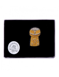 MACON ET LESQUOY Broche Brodée Bouchon de Champagne