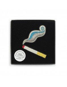 MACON ET LESQUOY Broche Brodée Boîte Cigarette