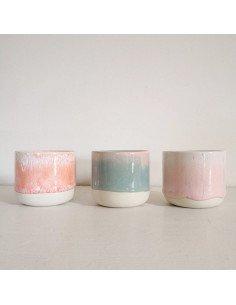 STUDIO ARHOJ sip cup Tasse expresso coloris pastèque rose vert