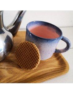 STUDIO ARHOJ chug mug tasse café thé céramique scandinave design danois mauve et rose