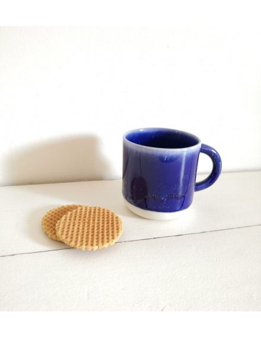 STUDIO ARHOJ chug mug tasse café thé céramique scandinave design danois bleu nuit