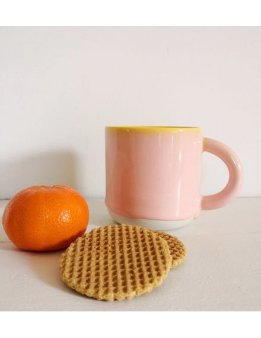 STUDIO ARHOJ chug mug tasse café thé céramique scandinave design danois pamplemousse rose