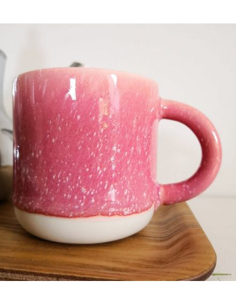 STUDIO ARHOJ chug mug tasse café thé céramique scandinave design danois rose framboise