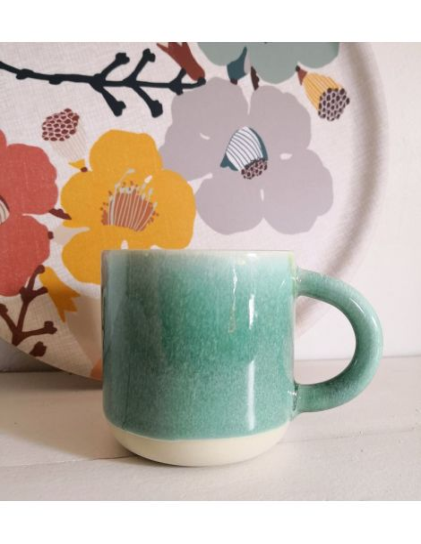 STUDIO ARHOJ chug mug tasse café thé céramique scandinave design danois vert d'amazonie