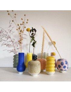 STUDIO ARHOJ vase Hana petit modèle Kiku céramique danoise coloris jaune